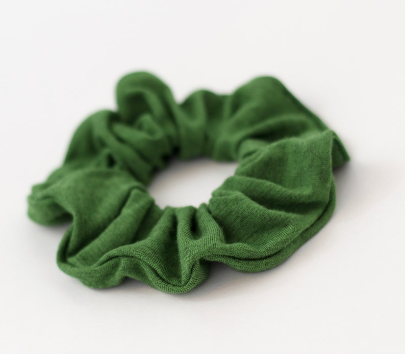 Soft Scrunchies Scrunchies For Women Green Hair Scrunchies Green Scrunchie