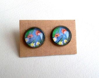 Flower earrings 2