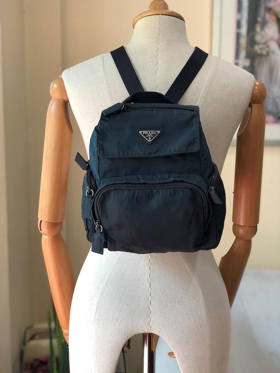 Authentic Prada Navy Blue Nylon Mini Backpack