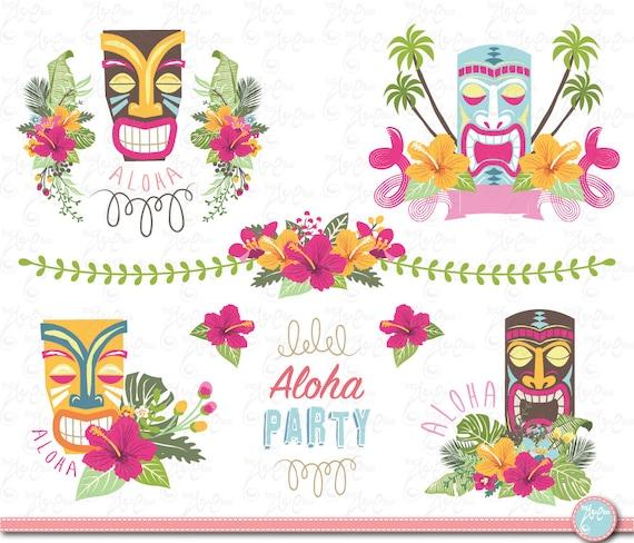 Blume von Hawaii Tiki Gott HAWAII TIKI Gott set | Etsy