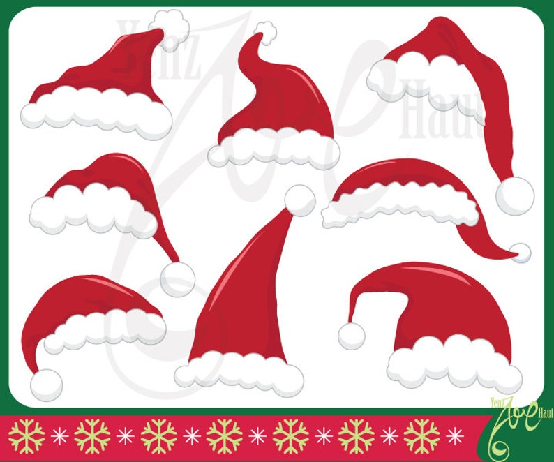 picture regarding Printable Santa Hat known as Xmas Santa Hat Clipart \