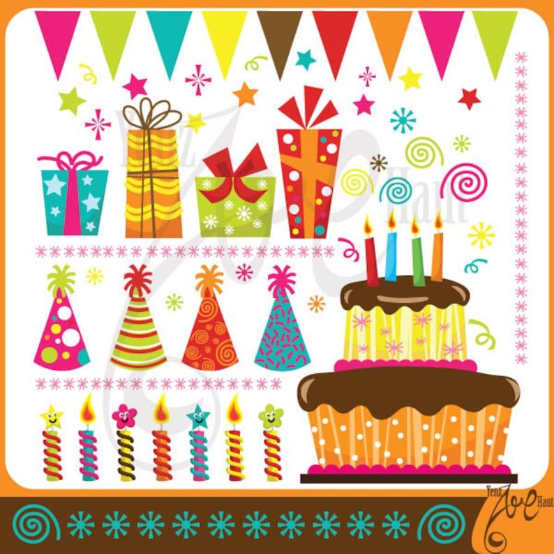 Geburtstag ClipArt BIRTHDAY PARTY Clip Kunst Pack