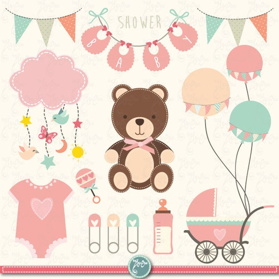Baby shower clipart baby shower clip art birth etsy image 0 filmwisefo