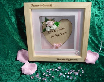 Personalised Wedding Frame Box with lights - wedding gift, personalised gift, anniversary gift