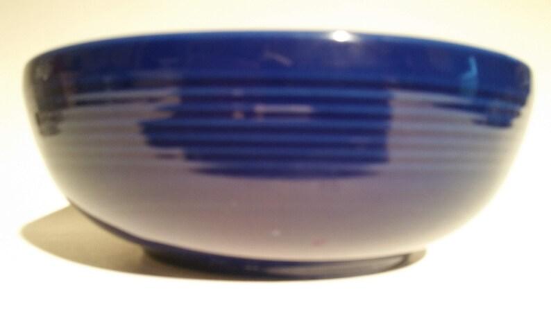 Gibson Cobalt Blue 9 Serving Salad Bowl Groove Design