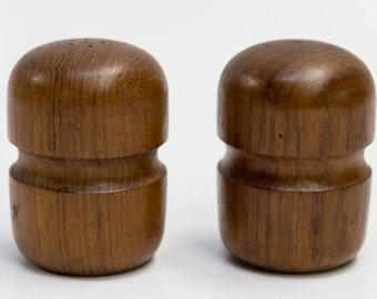Mid Century Modern Teak Wood Salt & Pepper Shakers