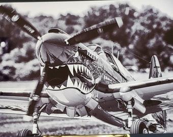 P-40 Tomahawk - Jackie C - 4 x 6 Metal Print
