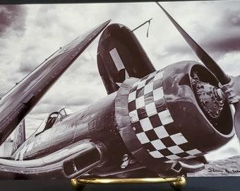 Corsair - Static Display at World War II Weekend - 4 x 6 Metal Print