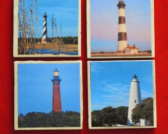 Outer Banks Lighthouses Coasters