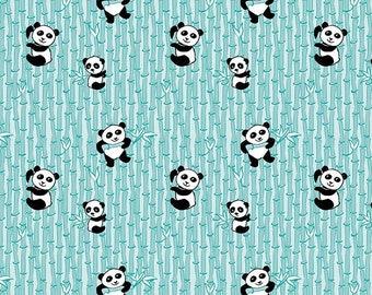 7357a794f13e24 Panda Love Aqua Fabric