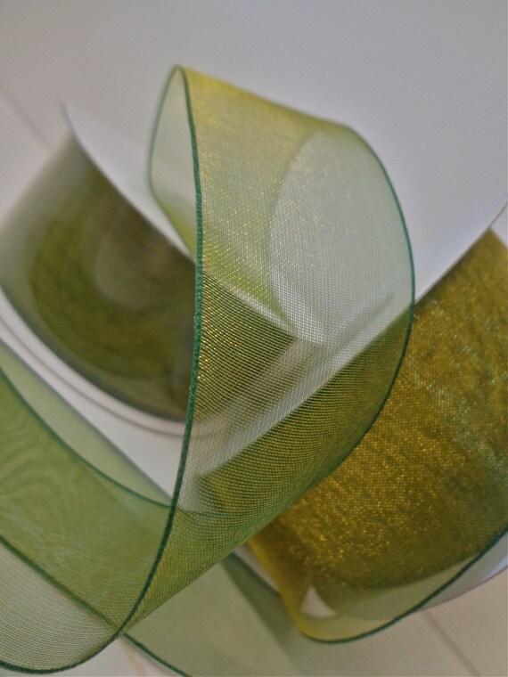Sheer Lemongrass Ribbon 5 Yards Sheer Green Ribbon By