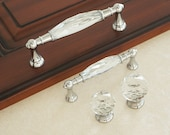 3.78 quot 5.0 quot Glass Dresser Drawer Knobs Handles Clear Pulls Knob Chrome Modern Crystal Cupboard Cabinet Handle Pull Knobs Wardrobe Handles