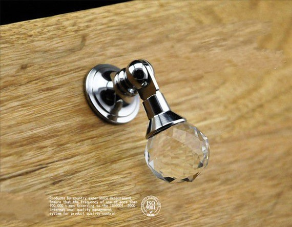 Drop Dresser Drawer Knobs Crystal Ball Pulls Handles Sparkly / Cabinet Knob  Pull Handle Silver Clear Metal / Modern Furniture Hardware D07 From  Dreamchinese ...