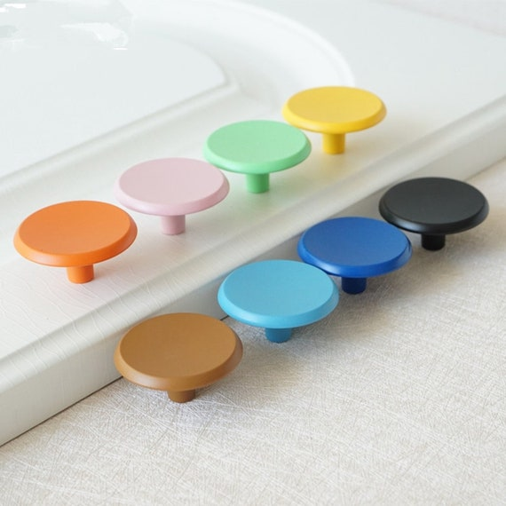 37mm Colorful Drawer Knobs Pulls, Blue Kitchen Cabinet Knobs