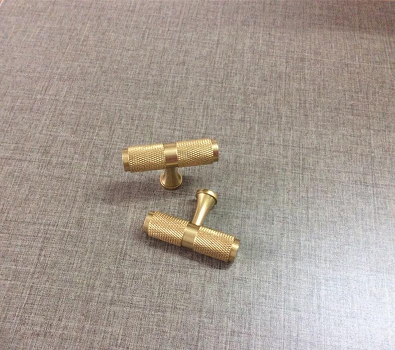 Pure Brass Cabinet Knobs Brass T Bar Pulls Drawer Knobs Pull Handles Dresser Pulls Kitchen Knob Handle Hardware