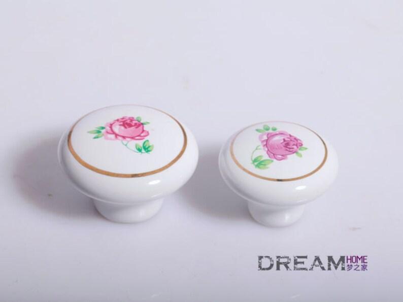 5PCS Ceramic Knobs Drawer Pull Unique Cabinet Knobs Handles /& Pulls for Dresser