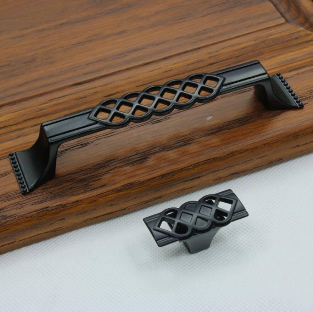 Unique Cabinet pulls Black Dresser Pulls Knobs Handles ...