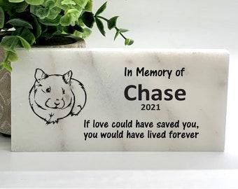 Pet Burial Marker Guinea Pig Memorial Stone Marble Memorial Stone