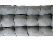 Indoor Outdoor Wicker Loveseat Settee Tufted Cushion Sunbrella Frequency Ash