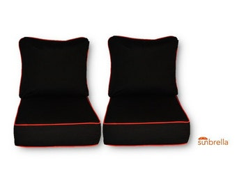 Indoor  Outdoor 2 Pc Foam Rocking Chair Cushion Set ~ Choose Size Sunbrella Frequency Sand