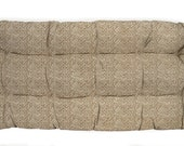RSH DECOR Indoor Outdoor Tufted Bench Cushion for Wicker Loveseat Made with Tommy Bahama Natural Rattan Fabric