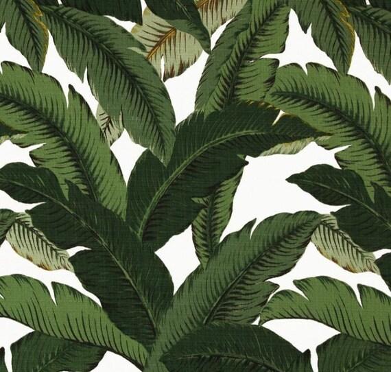tela de tapicería de hoja de plátano al aire libre Tommy Bahama Palmas Aloe Tela