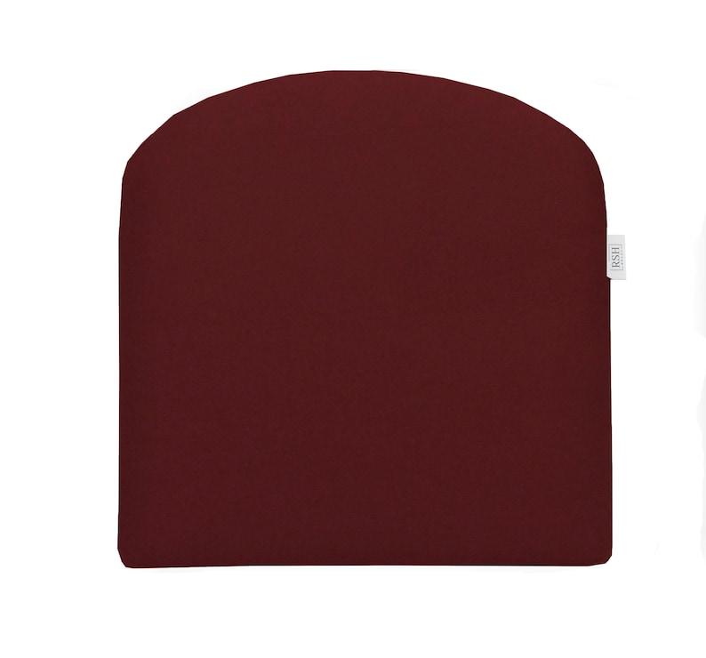 RSH D\u00e9cor Indoor ~ Outdoor Sunbrella Canvas Burgundy Foam Contour U-Shape Chair Cushion