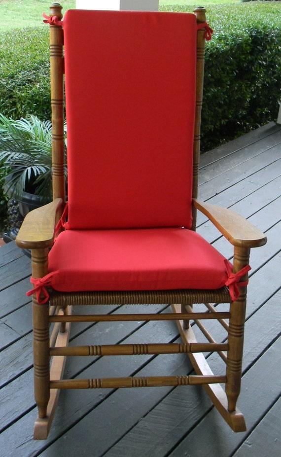 Cool Indoor Outdoor Solid Red Rocking Chair 2 Pc Foam Cushion Set Fits Cracker Barrel Rocker Uwap Interior Chair Design Uwaporg
