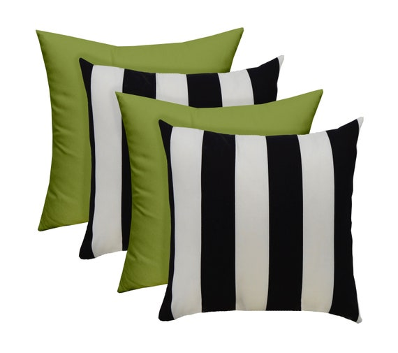Set Of 4 17 Indoor Outdoor Decorative Throw Pillows Etsy