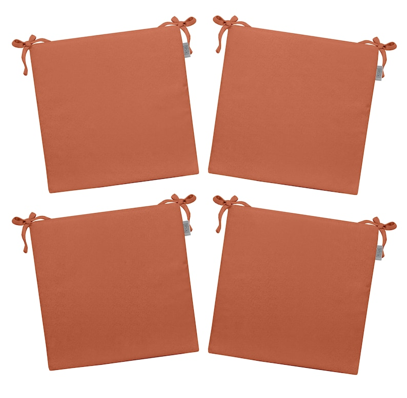 PeachSalmon Choose Size RSH D\u00e9cor Indoor  Outdoor 2 Foam Seat Cushion Set Of 4 Made from Performance Coral Velvet Fabric