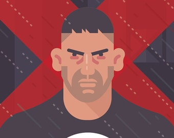 Daredevil - Frank Castle (Punisher) print 11x14