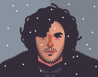 Game of Thrones - Jon Snow print 11x14