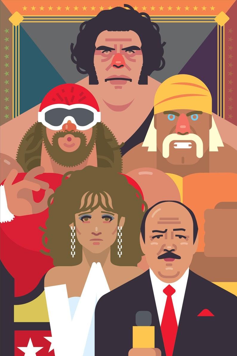 80's Pro Wrestling poster image 0