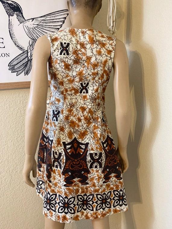 VTG-1960s-BARKCLOTH-wrap dress-Hawaiian - image 5