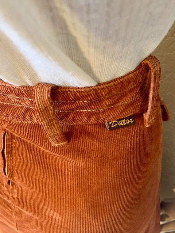 VTG-1970s-DITTOS-Pleated corduroy MINI skirt - image 3