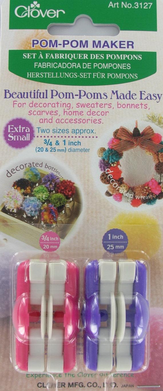 Make 20mm and 25mm Pompoms Clover Pom Pom Pompom Maker x 2 Extra Small Sizes