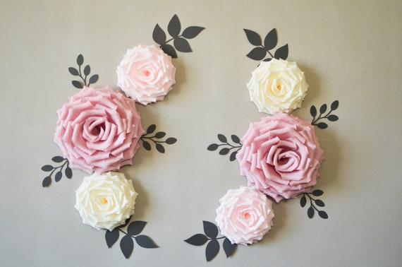Nursery Flowers/ Paper Flowers Wall Decor/ Wedding Decoration/Nursery Flowers/ Baby Shower/ Bridal Shower/ Wall Flowers/ Flower Backdrop