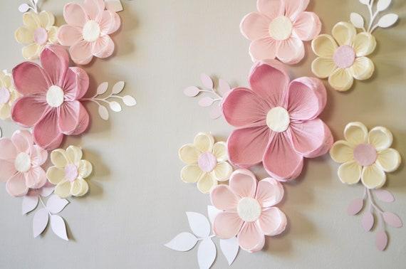 Nursery Wall Flowers Flower Backdrop Baby Shower Decor Paper Flowers for Nursery Decor Paper Flower Wall Decor Wall Flowers