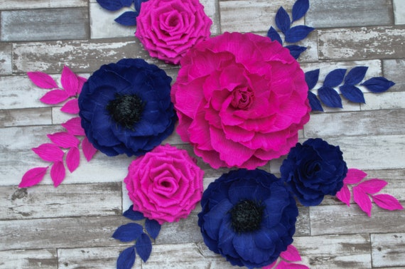 Nursery Flowers, Baby Shower Decorations, Paper Flowers Wall Decor, Nusrery Wall Decor, Wedding Decor, Paper Flowers Backdrop, Bridal Shower