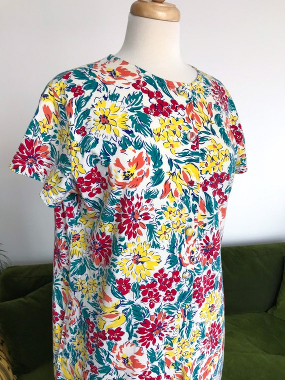 Laura Ashley floral jersey jumpsuit - small / UK 1