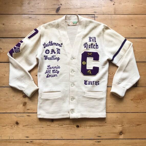 Vintage letterman varsity collegiate sweater - Cas