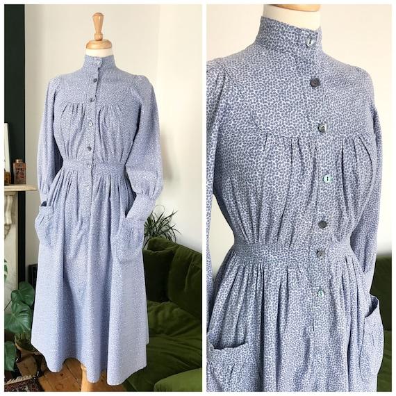 1970s Laura Ashley rare shirt dress