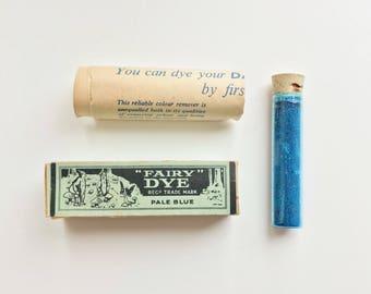1930s Fairy dye - Pale blue