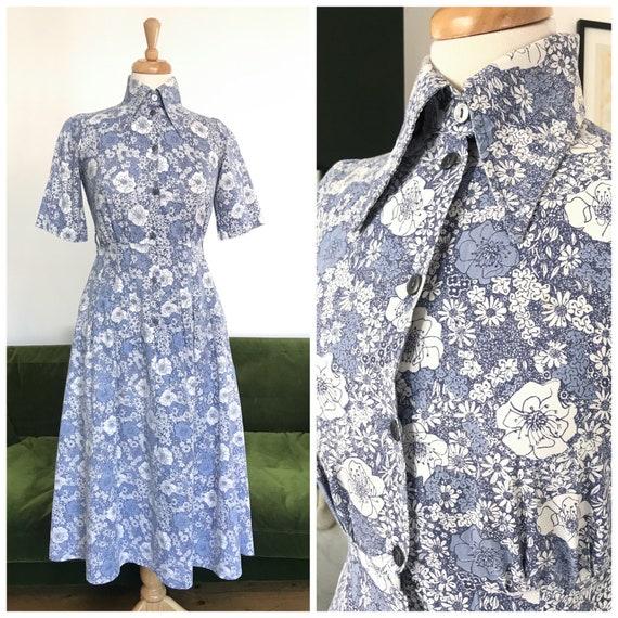 Vintage 1970s Laura Ashley dress rare print - UK 1