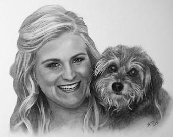 Custom Portrait from Photo Drawing Charcoal Portrait Drawing from Photo Family Portrait Memorial Portrait Commisson Portrait Art