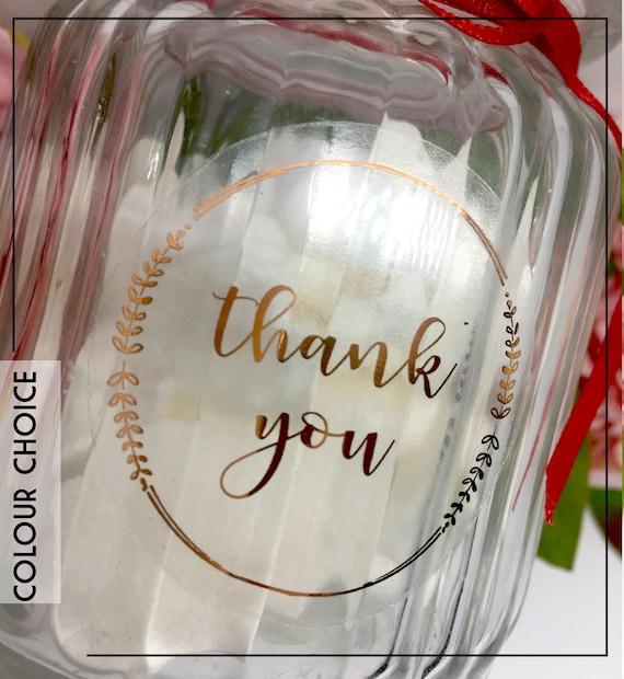 Throw Me Shout HOORAY stickers /& Glassine cello bag foil rose gold,wedding