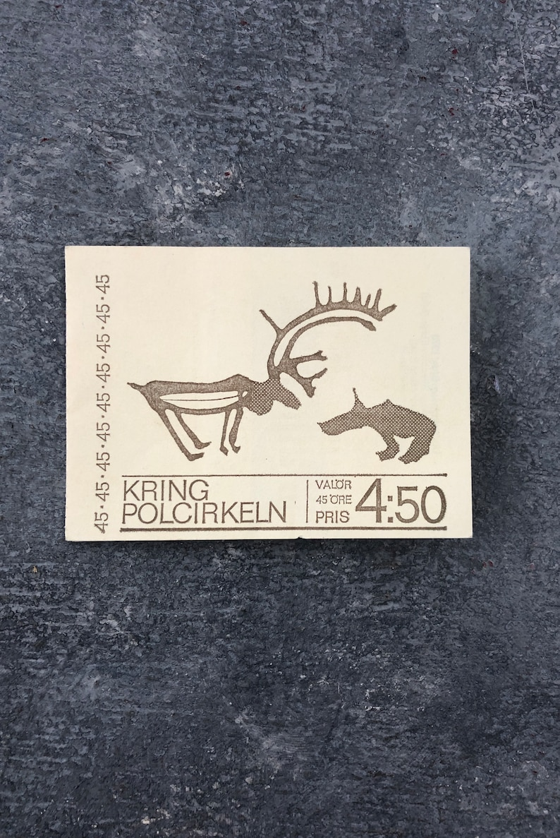 Postage Stamps New Sweden Unused Stamps 1970 RARE Swedish 5 45 \u00d6RE The Arctic Circle