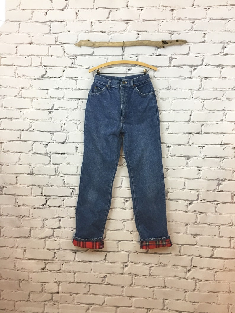 Winter Denim Slacks Women/'s size 12 Pants LL Beans Vintage Flannel Lined Jeans Maine Beans Clothing Sustainable Fashion Made in the USA