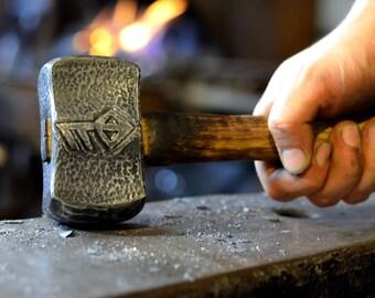 Hand Forged Custom Hammer * Wrought Iron Decorative Hammer * Personalized Hammer * Engraved Hammer * Thors Hammer * Blacksmith Made