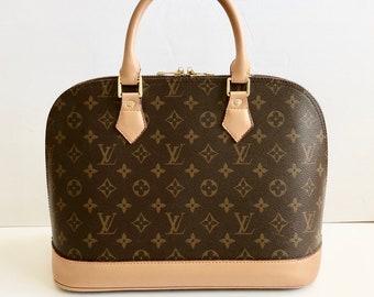 b7758ea6b Vintage Louis Vuitton Bag / LV / Purse / Logo / brown / Tan/ Handbag / Alma  / Crossbody / Handle Bag / Shoulder Bag